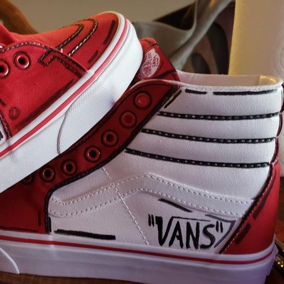 Vans Shoes Custom Cartoon Vans Poshmark